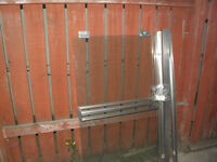 clear sliding shower door