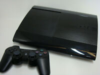 PS3 SUPER SLIM WITH 500 GB HARD DRIVE AND WIRELESS CONTROLLER