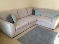 DFS Corner Sofa - Light Grey