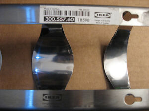 IKEA Wine Rack Stainless Steel - Holds 4 Bottles - Used West Island Greater Montréal image 3