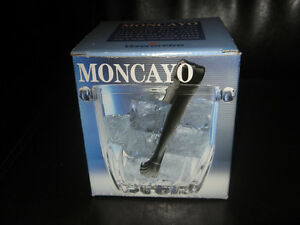 Moncayo Small Glass Ice Bucket & Tongs - Made In Italy
