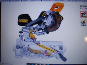 Battery operated DeWalt mitre saw
