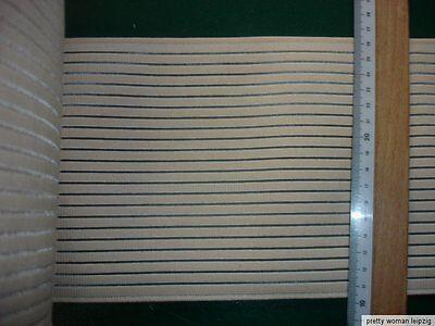Gummiband Bandage Stützgürtel Meterware beige 26,5cm breit V59