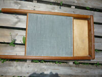 Antique Wash Board With Metal Ribs, old, rustic, vintage, décor