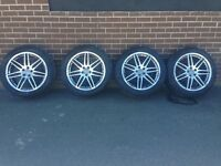 Genuine Audi Q5 rs4 sline set of 20 inch alloys wheels and tyres will fit a4 a5