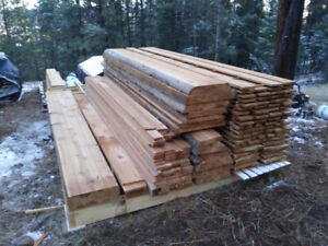 Old growth cedar slabs