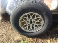 4 235/75/14 gt maxtour tires and rims