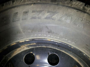 235/65/16 Winter tires and rims for sale