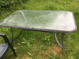Large and solid garden table