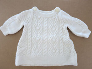 Baby Gap Thick Knitted Sweater Dress (Girl 0 - 3 months)