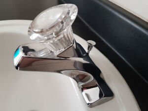 Bathroom sink faucet