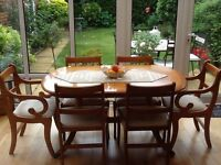 Dining Room set in Yew wood