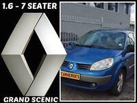 7 SEATER RENAULT GRAND SCENIC 156+BMW Z3,TOYOTA,SUZUKI,SKODA,VAUXHALL,FORD,HONDA,FIAT,PEUGEOT,ESTATE