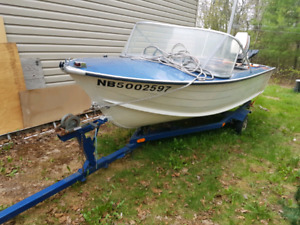 16ft aluminum with a 35hp johnson and trailer