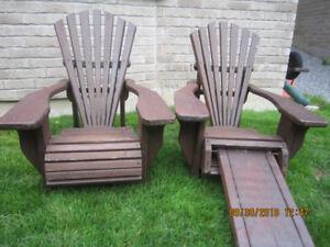 Muskoka Chairs - Solid BC Redwood