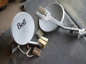 2 soucoupes antenne bell expressvu dish avec multi switch
