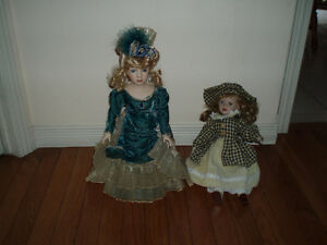 Collectible Victorian Style Porcelain Dolls