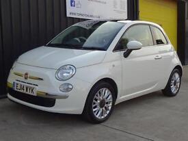 2014 (14) Fiat 500 1.2 Lounge Dualogic Automatic £20 road tax *Glass Roof*