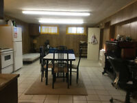 Large 1 bedroom basement suite located in the country