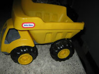 2 Toy trucks (Dump and Trailer type)