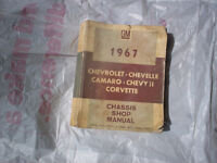 67 CHEVELLE  CHASSIS SHOP MANUAL BY GENERAL MOTORS