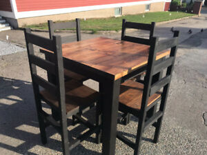 Pub height table and 4 chairs