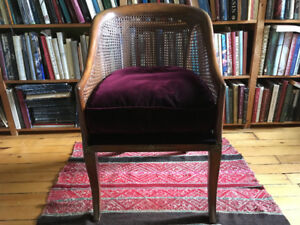 Antique Cane Barrel Chair $300 or TRADE see my list