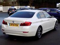 2015 15 BMW 5 SERIES 2.0 520D LUXURY 4DR AUTO 188 BHP * PRO NAV PEARL WHITE *