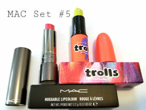 MAC SET#5: HUGGABLE LIPCOLOUR + TROLLS CREMESHEEN LIPSTICK