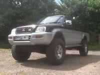 Mitsubishi L200 monster truck 4x4 lpg gas converted 3l v6 twin cab l 200 offroad