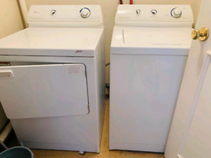 Maytag white washer and dryer