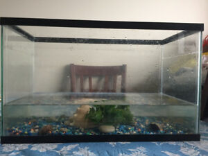 Fish Aquarium 10 gallon with colour gravels