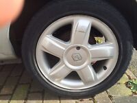 RENAULT CLIO MK2 DYNAMIQUE 1 X ALLOY WHEEL WITH TYRE 195/50/R15 98-07 SALVAGE DAMAGED MODIFIED