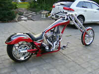 Custom built ,pro street ,chopper, harley,soft tail
