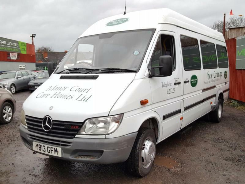 6df3398f50 Mercedes-Benz SPRINTER 411 CDI LWB HIGH ROOF 17 SEATER MINIBUS    IDEAL  EXPORT