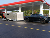 Truck and cargo trailer for hire also open aluminum trailer