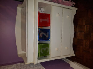 White Changing table and baby dresser