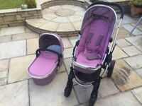 Icandy Peach 3 Pushchair and pram with rain covers