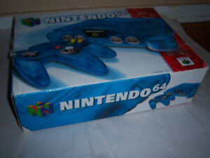 Nintendo Funtastic Blue N64 Complete In The Box $190 Firm