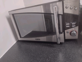 DeLonghi stainless steel microwave 800w 20L