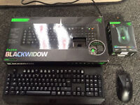 Razer blackwidow keyboard and Razer Deathadder mouse