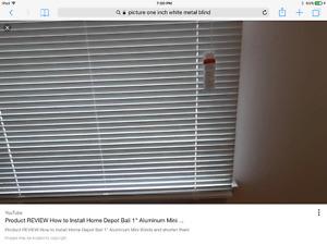 "White Horizontal 1"" metal blinds x 2"