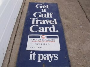 vintage gulf oil sign