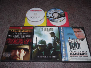 56 war and military DVDs for $5