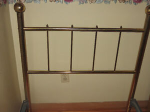 Antique Brass Headboard Single Bed