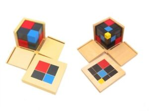 Montessori Binomial and Trinomial cubes for sale