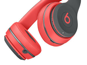 NEW Beats by Dr. Dre Solo 2 Bluetooth Headphones (Siren Red)