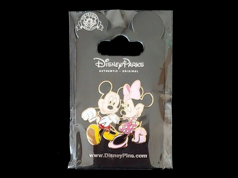 Disney Pin Mickey & Minnie Mouse Romantic Date Night Strolling and Holding Hands