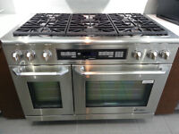 Duel Fuel Range 48inch with free Dishwasher and Hoddfan