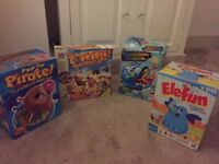 4 Kids games, Buckaroo, Elefun, Chameleon Crunch, pop-up pirate - £10 **Collect from Romford, RM1**